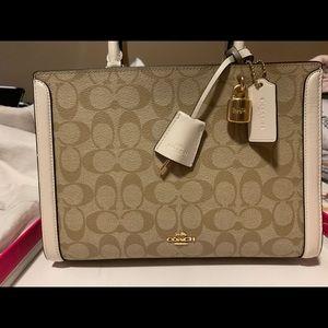 Coach Zoe signature canvas purse